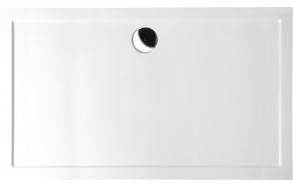 Kivimassa suihkuallas INTERIA Karia 120x100x4 cm vasen, valkoinen  + jalat AWG09 + etulevy 26712L + vesilukko S-1711C
