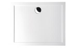 Kivimassa suihkuallas INTERIA Karia 90x70x4 cm vasen, valkoinen  + jalat AWG05 + etulevy 44812L + vesilukko S-1711C