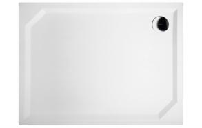 Kivimassa suihkuallas INTERIA Sara 100x75x3,5 cm vasen, valkoinen  + jalat  + etulevy GP10075L + vesilukko S-1711C