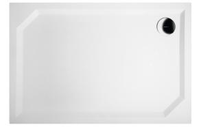 Kivimassa suihkuallas INTERIA Sara 110x75x3,5 cm vasen, valkoinen  + jalat  + etulevy GP11075L + vesilukko S-1711C