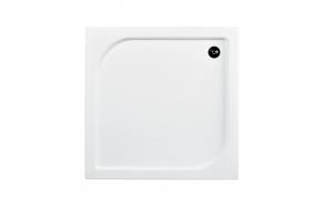 Suihkunurkan akryyliallas Interia Oscar 70x70x16 cm, valkoinen, vesilukko ei kuuluu toimitukseen