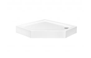 Suihkunurkan akryyliallas Interia Pergo 90x90x16 cm, valkoinen, vesilukko ei kuuluu toimitukseen