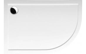 Suihkunurkan akryyliallas Interia Pluto 100x80x15 cm, vasen, valkoinen, vesilukko ei kuuluu toimitukseen
