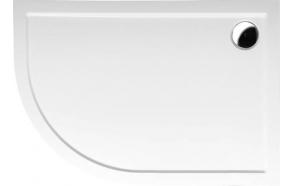 Suihkunurkan akryyliallas Interia Pluto 120x90x15 cm, oikea, valkoinen, vesilukko ei kuuluu toimitukseen