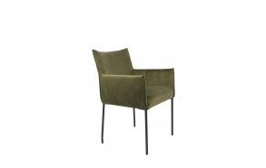 käsinojallinen tuoli Dion Velvet, Olive