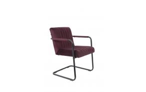 käsinojallinen tuoli Stitched Velvet, Plum