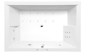 Poreamme DUPLA HYDRO-AIR, 180x120x54 cm, valkoinen