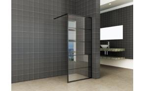 Kiinteä suihkuseinä Interia Horizon 800x2000x8 mm NANO, matta musta kehys