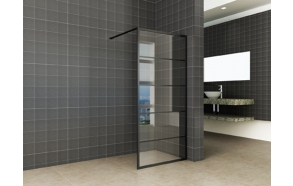 Kiinteä suihkuseinä Interia Horizon 1000x2000x8 mm NANO, matta musta kehys
