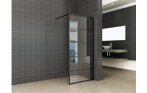 Kiinteä suihkuseinä Interia Horizon 1100x2000x8 mm NANO, matta musta kehys