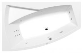 Poreamme EVIA L HYDRO, 170x100x47cm, valkoinen