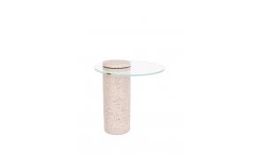 Apupöytä Rosalina Terrazzo Pink