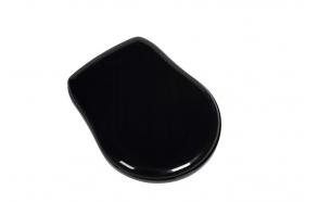 WC istuinkansi (ei soft-close) Kerasan Retro, kiiltävä musta/kromi