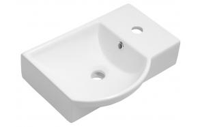 Pesuallas Interia Litos, 450x320mm, oikea, valkoinen