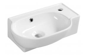 Pesuallas Interia Yumo, 450x280x145mm, oikea, valkoinen