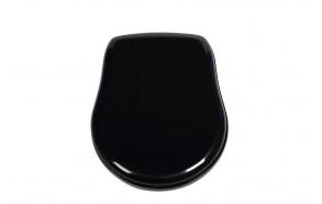 Soft close istuinkansi Kerasan Retro, kiiltävä musta/kromi
