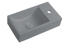 Pesuallas Interia Crest R, 400x220x100mm, oikea, harmaa pohjaventtiilillä