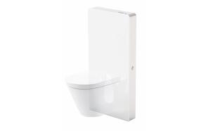 Sensorilla varustettu seinä-wc teline Interia Wiesbaden, valkoinen lasi