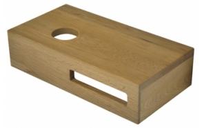 Tammipuusta valmistettu pesualtaan hylly 400x210x100 mm, vasen