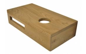 Tammipuusta valmistettu pesualtaan hylly 400x210x100 mm, oikea