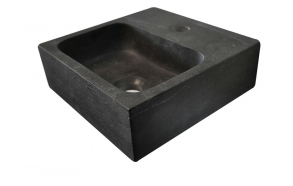 Pesuallas Interia 300x300x100 mm, luonnonkivi, musta
