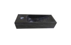 Pesuallas Interia 380x140x80 mm, luonnonkivi, musta, vasen