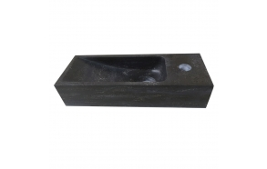 Pesuallas Interia 380x140x80 mm, luonnonkivi, musta, oikea