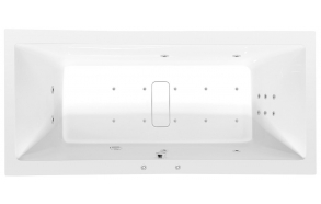 Poreamme MARLENE HYDRO-AIR, 180x80x48 cm, valkoinen