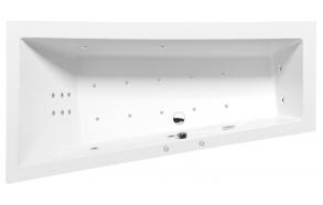 Poreamme ANDRA L HYDRO-AIR, 180x90x45 cm, valkoinen