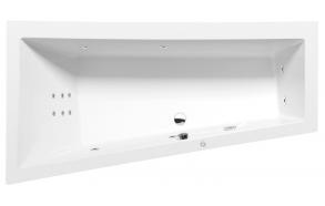 Poreamme ANDRA L HYDRO, 180x90x45 cm, valkoinen