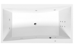 Poreamme QUEST HYDRO, 180x100x49 cm, valkoinen