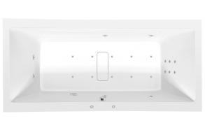 Poreamme MARLENE HYDRO-AIR, 200x90x48 cm, valkoinen