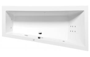 Poreamme ANDRA R HYDRO, 180x90x45 cm, valkoinen
