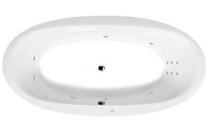 Poreamme STADIUM HYDRO, 190x95x46 cm, valkoinen