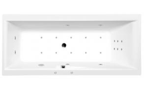 Poreamme CLEO HYDRO-AIR, 160x75x48 cm, valkoinen