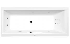Poreamme CLEO HYDRO, 160x75x48 cm, valkoinen