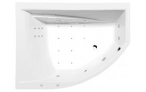 Poreamme TANDEM L HYDRO-AIR, 170x130x50 cm, valkoinen