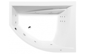 Poreamme TANDEM R HYDRO, 170x130x50 cm, valkoinen