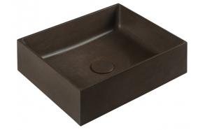 Pesuallas Interia Formigo, 470x135x360mm, tummanruskea pohjaventtiilillä