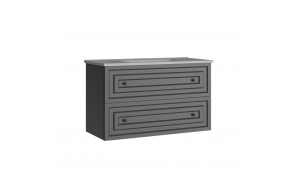 Kayra allaskaappi laatikoilla 100 cm, harmaa + pesuallas SU100