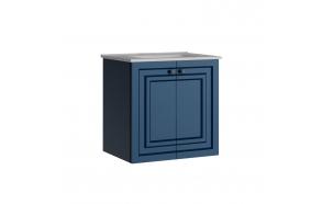 Kayra allaskaappi ovilla 60 cm, sininen + pesuallas SU060