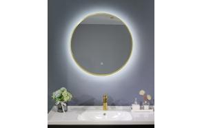 LED peili Interia Cherry diam 60 cm, matta kulta
