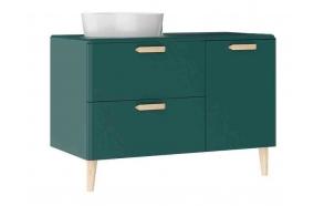 Patara allaskaappi laatikoilla 100 cm, vihreä + pesuallas  LP140 tai LP040