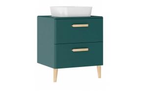 Patara allaskaappi laatikoilla 60 cm, vihreä + pesuallas  LP140 tai LP040