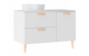 Patara allaskaappi laatikoilla 100 cm, valkoinen + pesuallas  LP140 tai LP040