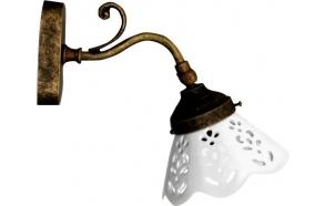 BARI valaisin E14 40W, 230V, keraaminen lampunvarjostin, pronssi