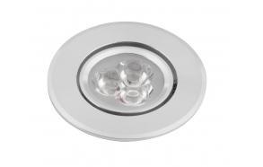 DORIN LED upotettu kattovalo 3x1W, 230V, 68mm, kylmä valkoinen, 60st.