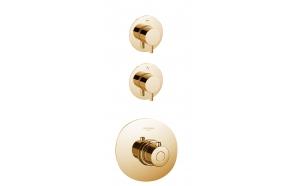 upotettava vaihtimella varustettu suihkuhana Form A, 2 vedenulostuloa, kulta