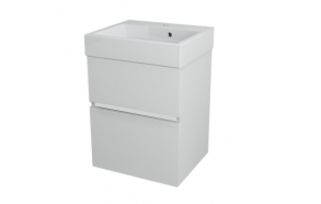 allaskaappi Largo 49x60x41 cm, valkoinen