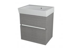 allaskaappi Interia Largo 59x60x41 cm, Silver Oak